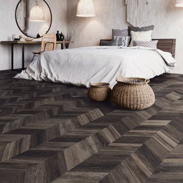Bohemian patroon PVC-vloer Moduleo Impress (donker)